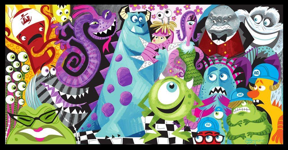 Monsters, Inc. | Disney art, Disney pixar movies, Pixar poster