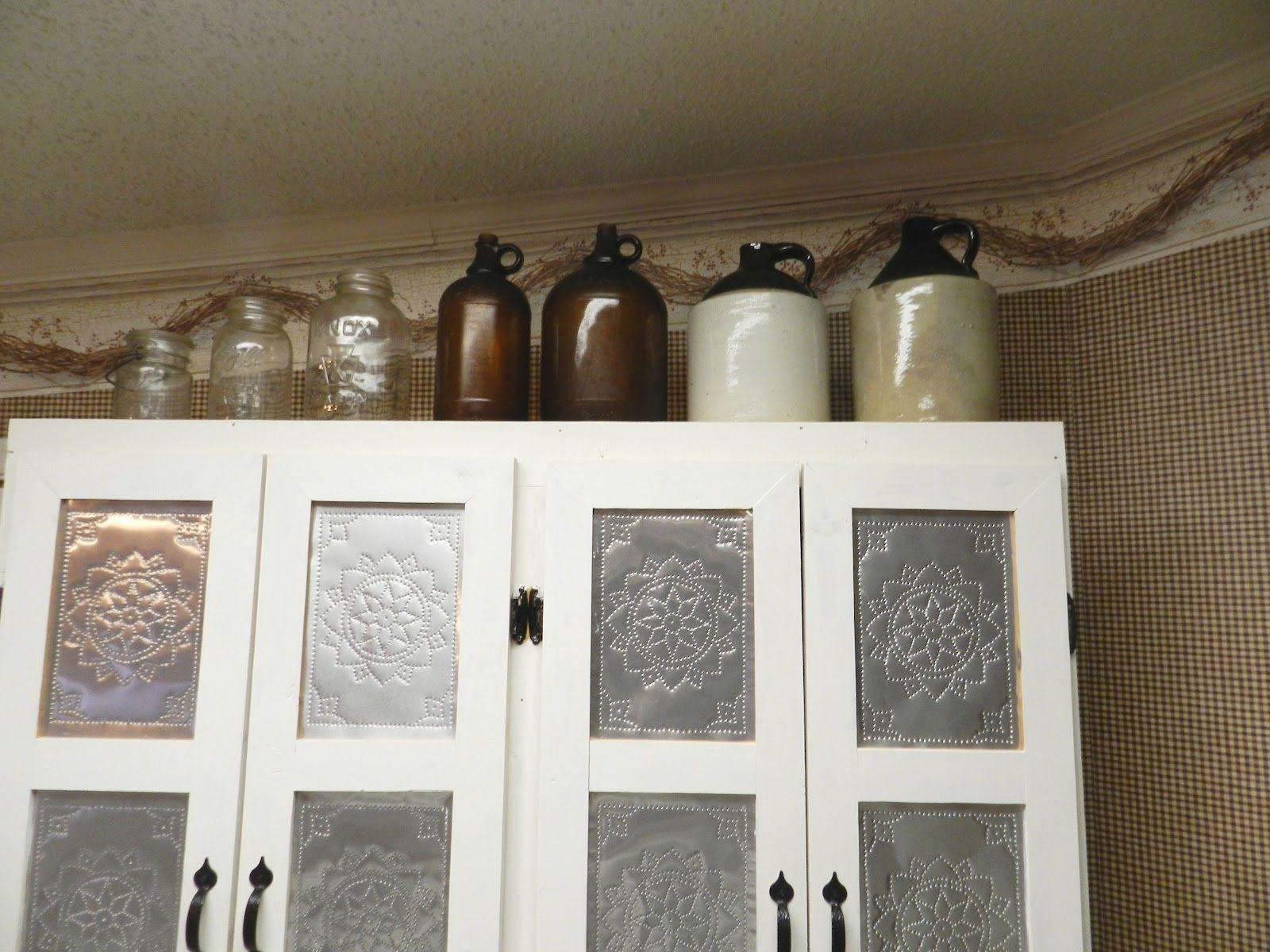 Tin Kitchen Cabinet Inserts Kitchen Design Ideas
