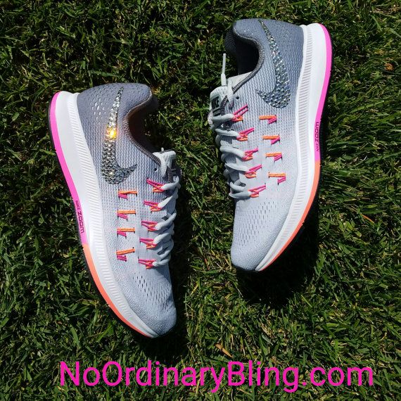 Nike Bling Air Zoom Pegasus 33 Women's Pure