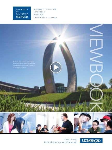 Uc Merced Viewbook Uc Merced Merced Admissions