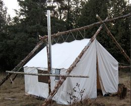 About Sources of Canvas/Synthetic Fabric Wall/Cabin Tents u0026 Living in Tents on a permanent basis. & External Pole Frame Tent | Wall Tent Camps | Pinterest | Tents ...