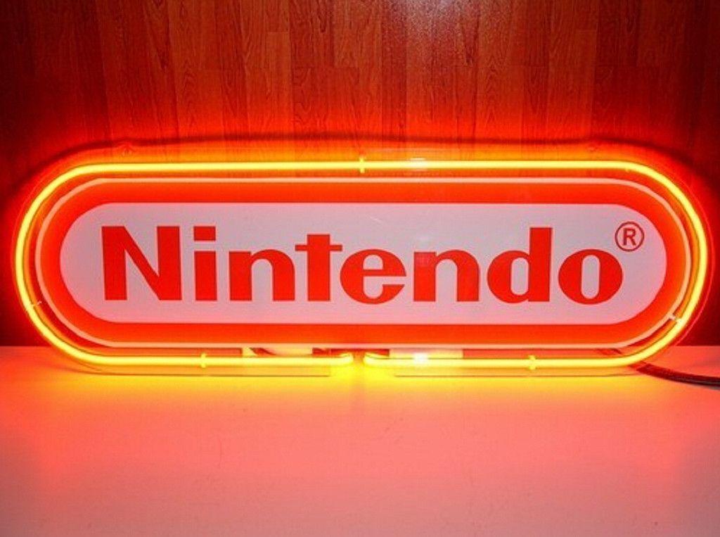 Nintendo Red Neon Sign Neon Signs Neon Light Signs Neon Lighting