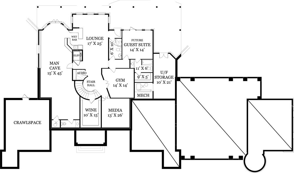 Chastain 4436 4 Bedrooms And 4 Baths The House Designers House Plans Luxury House Plans Basement Floor Plans
