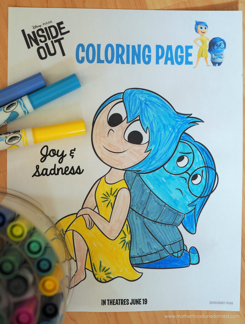 Inside Out Coloring Page and Other Free Printable Kids Activities ...