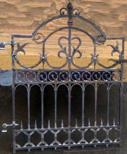Edwardian Gate Wrought Iron Gate Forged Gate Entrance Gate Antique