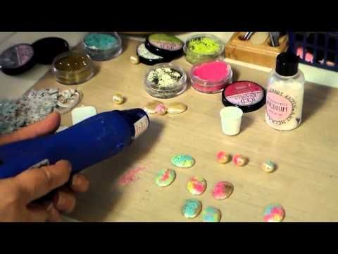 ▶ Painting Cabochons and Enameled Brass Stampings with Iced Enamels from B'sue - YouTube