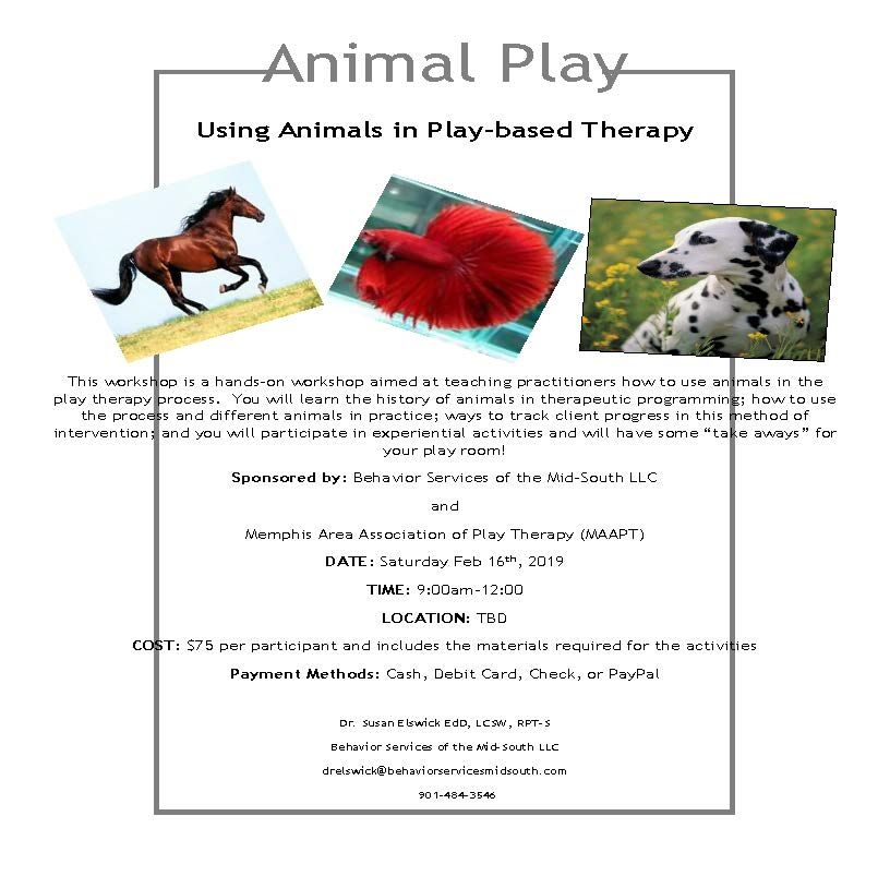 Bsms memphis play therapy training play based therapy
