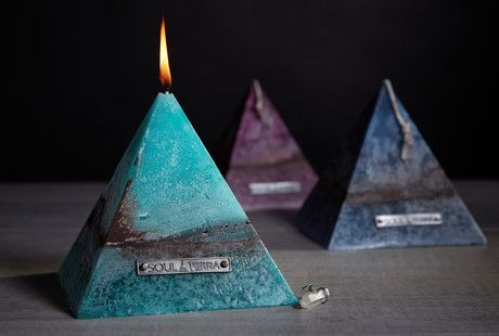 Soul Terra Pyramid Candle Candle Shapes Candle Projects Discover a hidden amethyst gemstone inside this sacred shaped pyramid candle from soul terra. soul terra pyramid candle candle