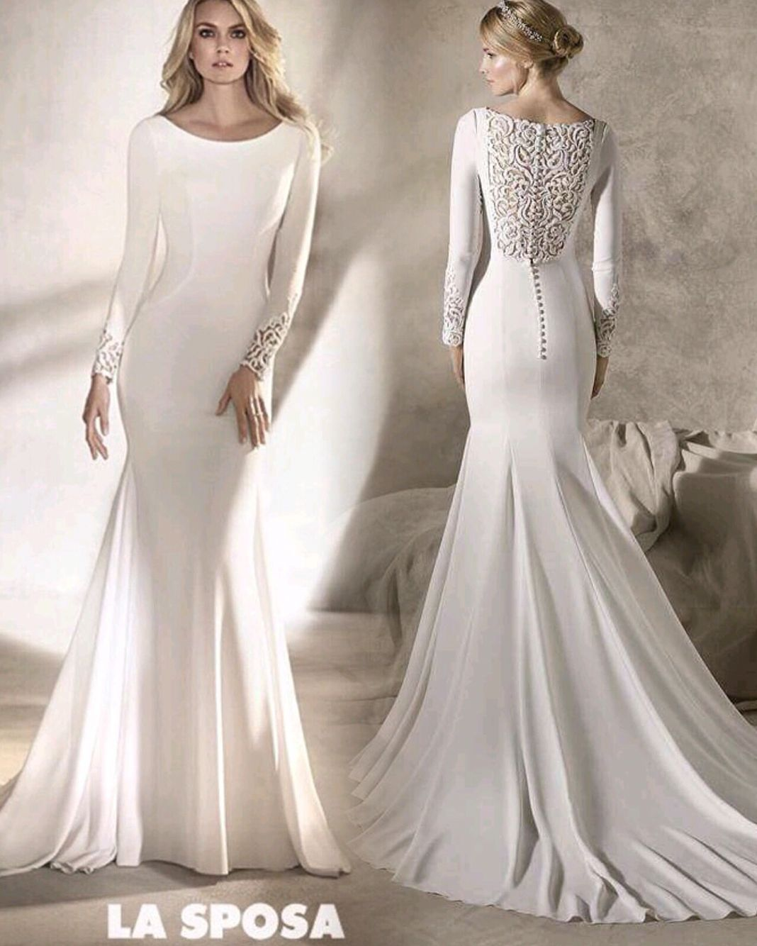 La sposa by pronovias fashion group long sleeved 2017 for Wedding dresses in louisiana