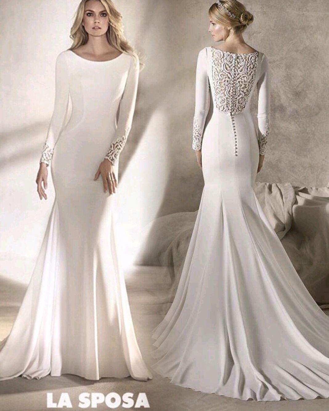 La sposa by pronovias fashion group long sleeved plain crepe