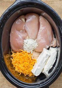 Slow Cooker Crack Chicken #crockpotchickeneasy