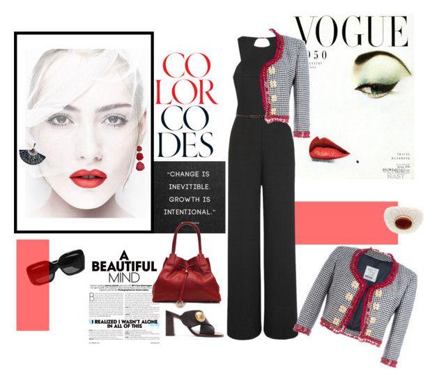 """Red,Red and black"" by mfpblau ❤ liked on Polyvore featuring Chloé, Annoushka, Bottega Veneta, Halston Heritage, Moschino and Bulgari"