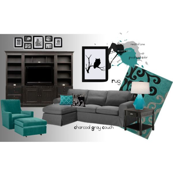 Black Grey And Teal Living Rooms