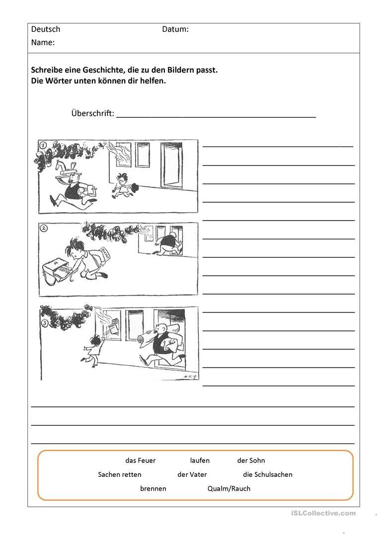 bildergeschichten mit worthilfen deutsch german language teaching und school. Black Bedroom Furniture Sets. Home Design Ideas