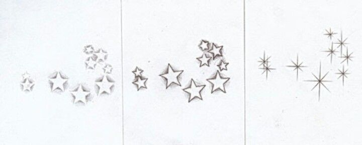 Ideas for pleiades tattoo. The far right one is my fave. I could do it on my inner ankle in white ink