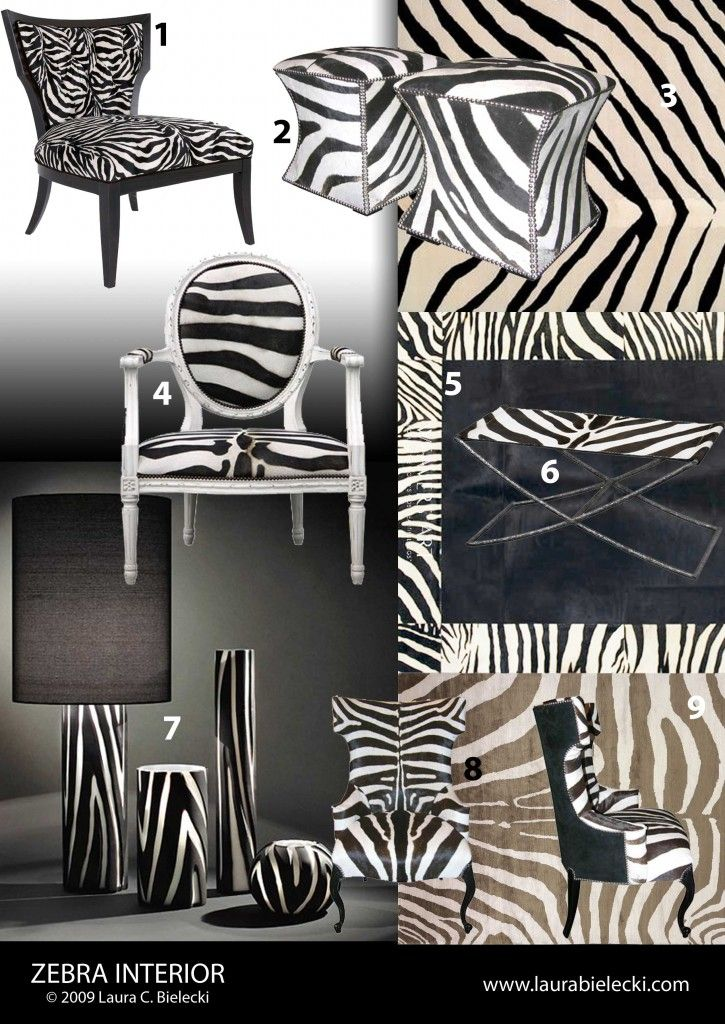 Great Zebra Print In Home Decor Interior Design Products   From Luxury Interior  Design Journal