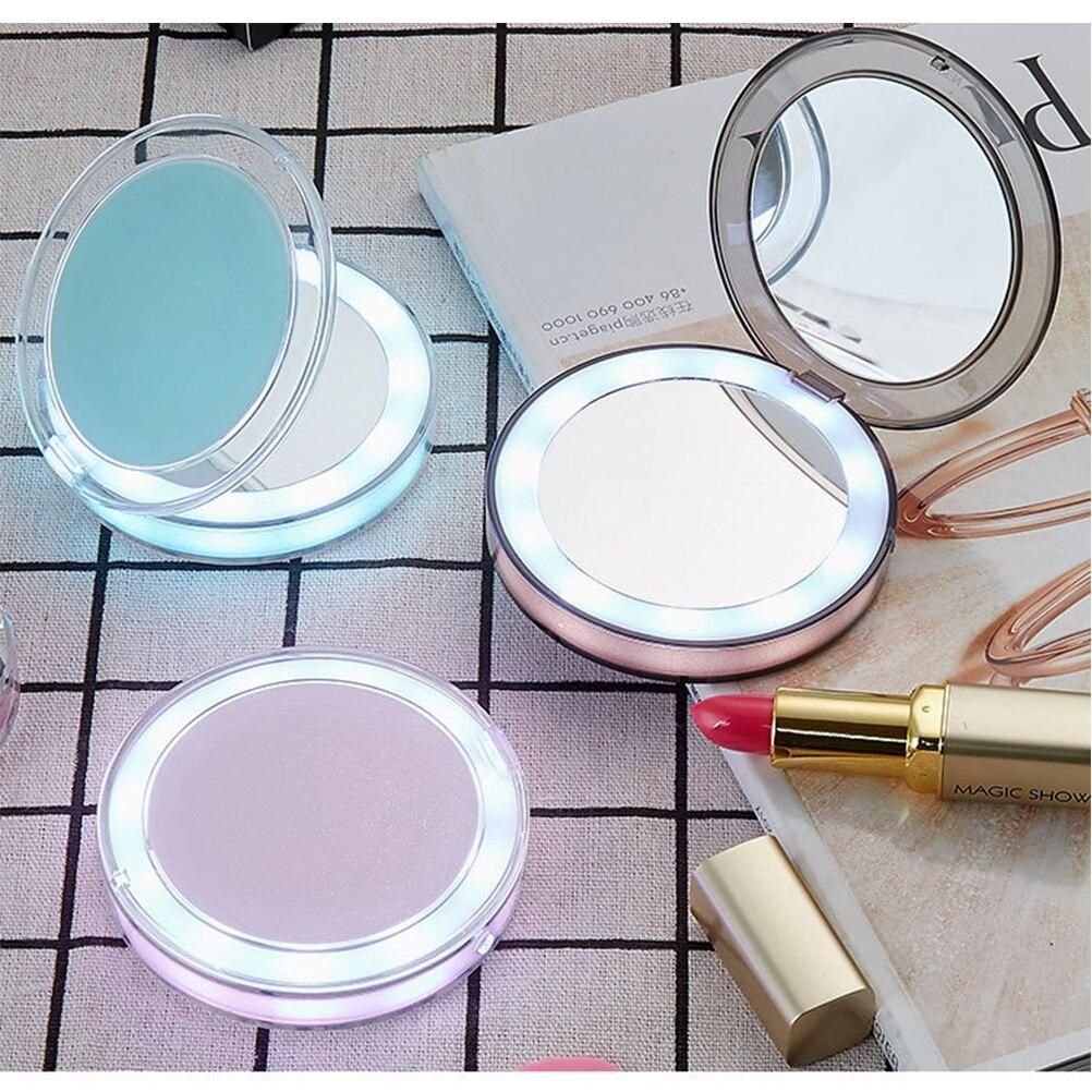 Lighted Compact Mirror Portable Charger