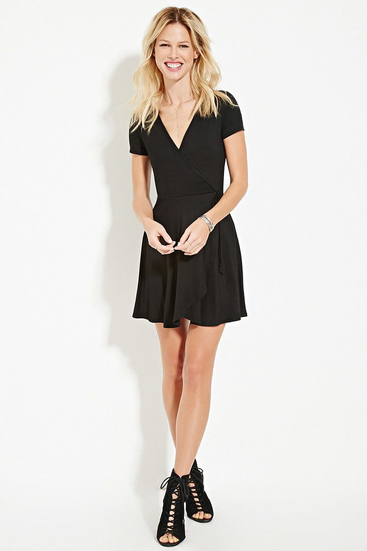 Surplice Wrap Dress Forever 21 2000171112 Surplice Wrap Dress Fashion Wrap Dress [ 1125 x 750 Pixel ]