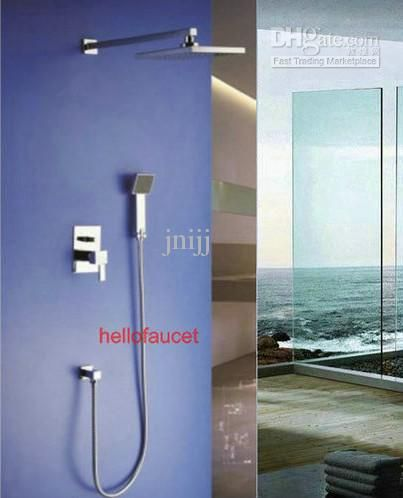 Free Shipping 112 2 Piece Whole Wall Mounted Handheld Spray Shower Head Faucet