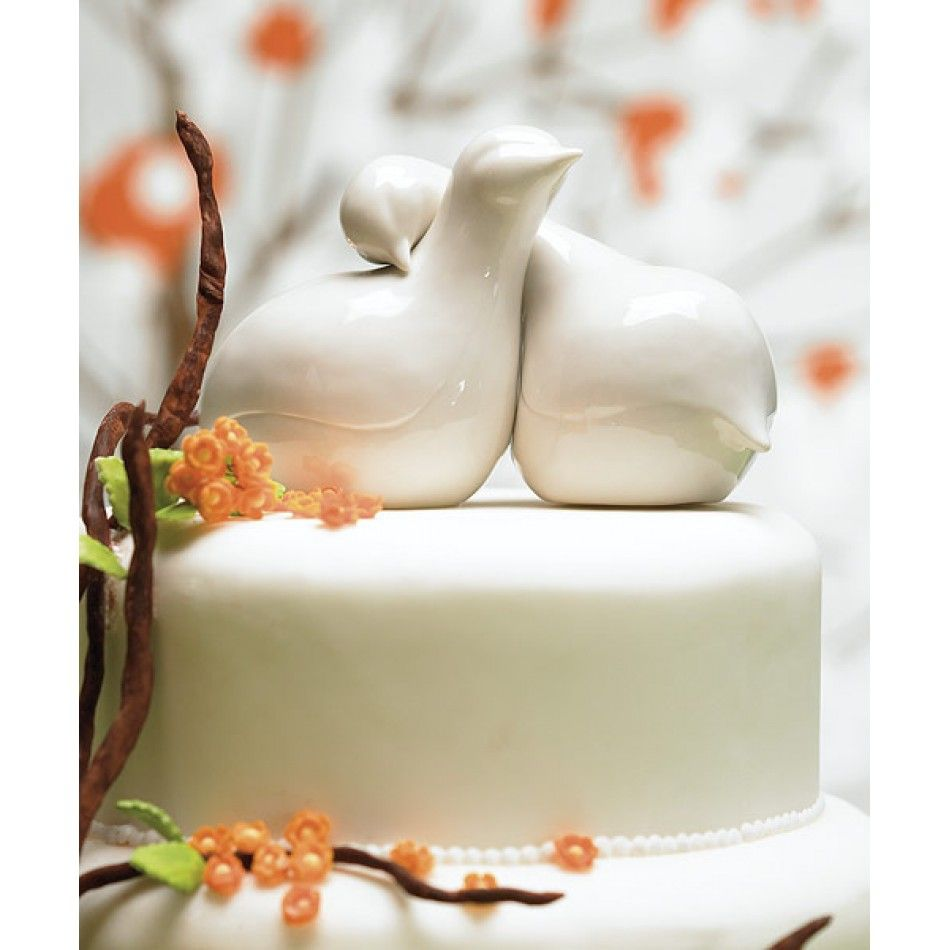 Contemporary Love Birds Wedding Cake Topper [977-8458 Love Birds ...