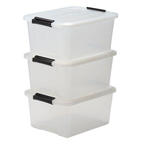 Iris Ohyama Lot De 3 Boites De Rangement Empilables Avec Fermeture Clic Top Box Tb 15 Pla Boite De Rangement Rangement Plastique Boite Rangement Plastique