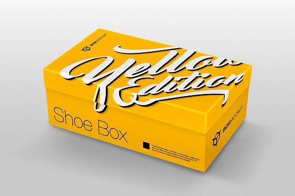 Download Shoe Box Mockup Shoe Box Design Box Mockup Shoe Box