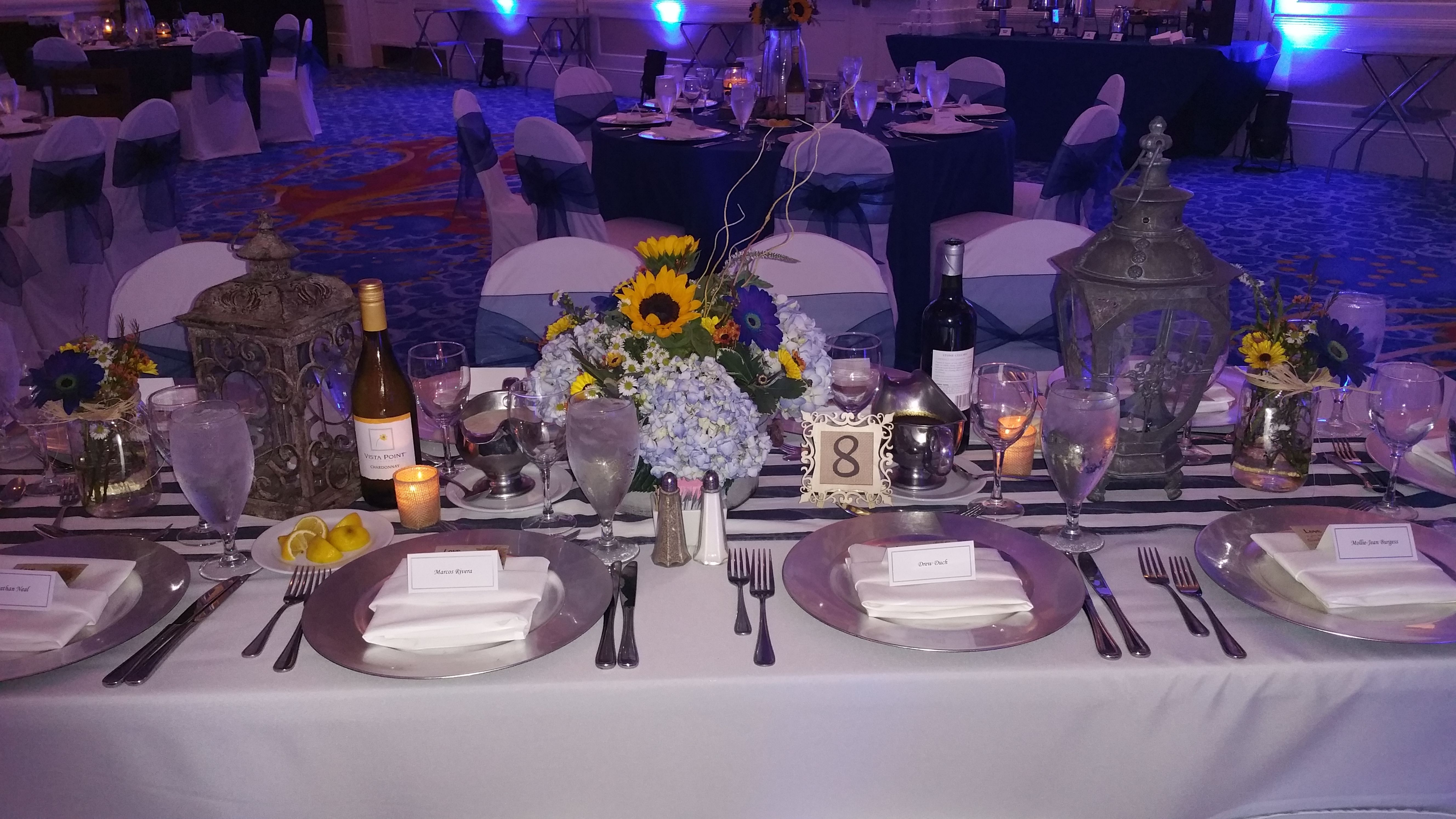 Rustic banquet style table setting Rustic Chic Wedding Photo by Will Hawkins Photography & Rustic banquet style table setting Rustic Chic Wedding Photo by Will ...