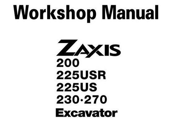 Hitachi ZX200 / ZX225USR / ZX225US / ZX230 / ZX270 Crawler
