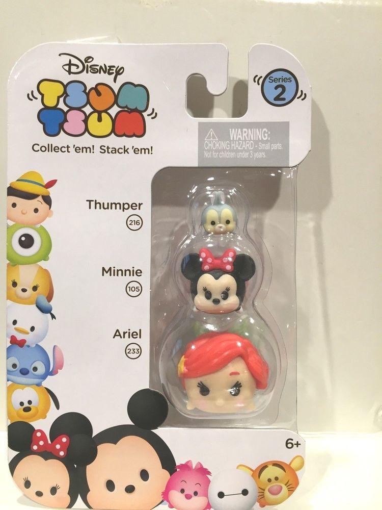 Stack/'em Collect/'em 2 x Disney Tsum Tsum Series 2 ~NEW /& Unopened~