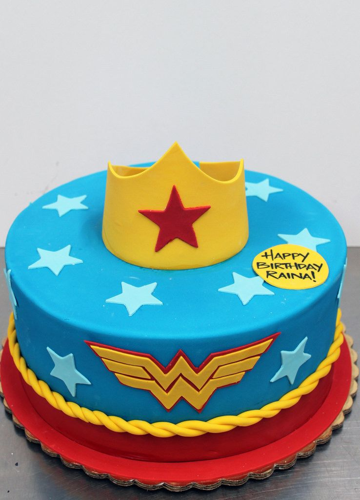 Wonder Woman Easy Cake Single Tier Google Search With Images
