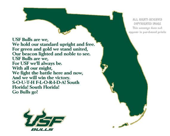 Florida State Map.Usf Bulls Florida State Map Sports Fight By Patriotislanddesigns