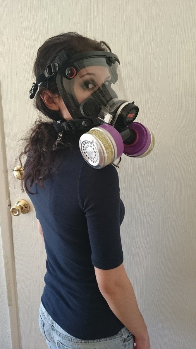 SCBA air tank) for breathing in firestorm