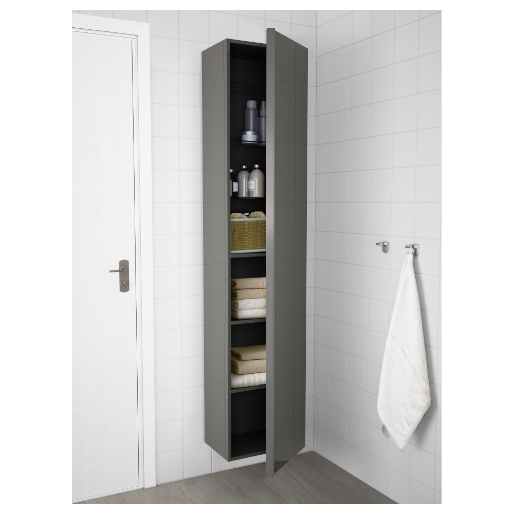 Godmorgon High Cabinet Black Brown 15 3 4x12 5 8x75 5 8 Ikea Ikea Godmorgon Diy Bathroom Storage Ikea