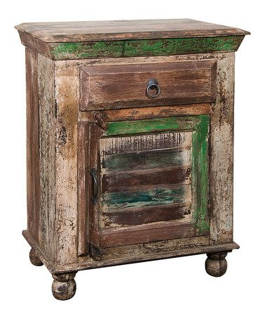 Loving this Reclaimed Wood Accent Table With Drawer on #zulily! #zulilyfinds