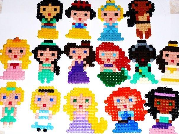 Disney Princesses hama beads by lune-de-cristal