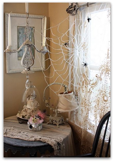 shabby chic halloween decorations the shabby chic witch is the one i made at sissy 39 s house. Black Bedroom Furniture Sets. Home Design Ideas