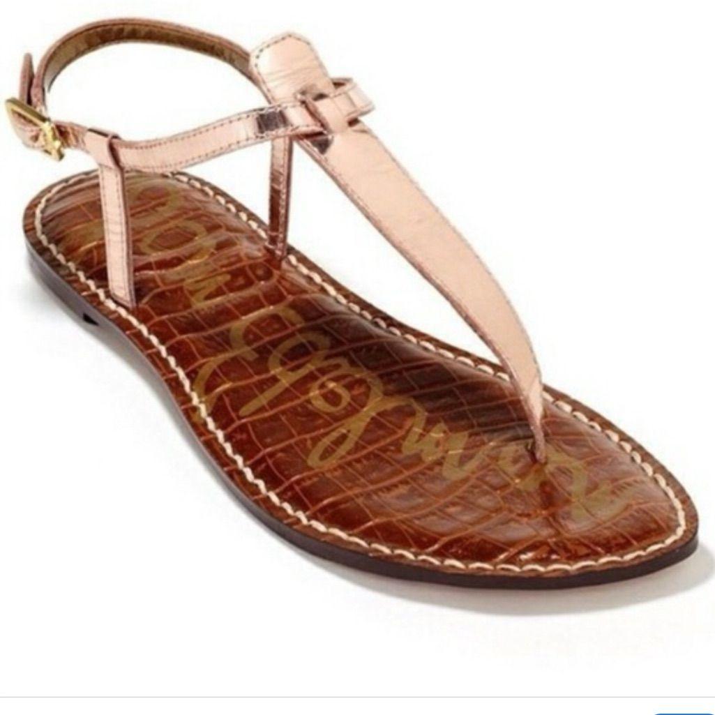 Sam Edelman Shoes   Sam Edelman Rose Gold Leather Sandals   Color: Pink   Size: 7.5