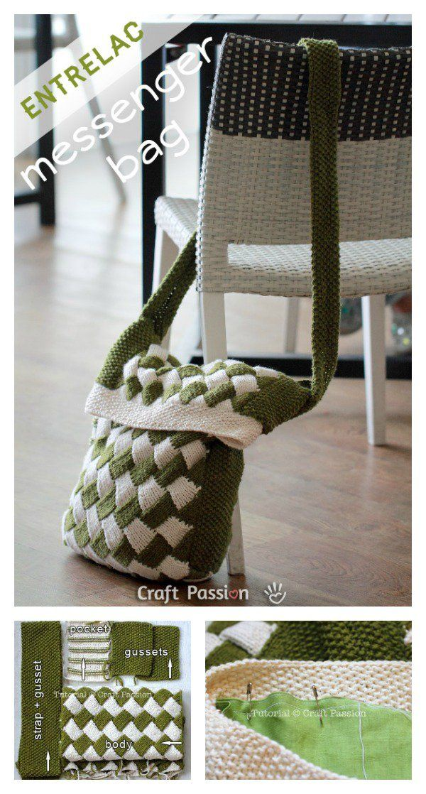 Entrelac Pouch Free Knitting Patterns and Projects (Part 1 ...