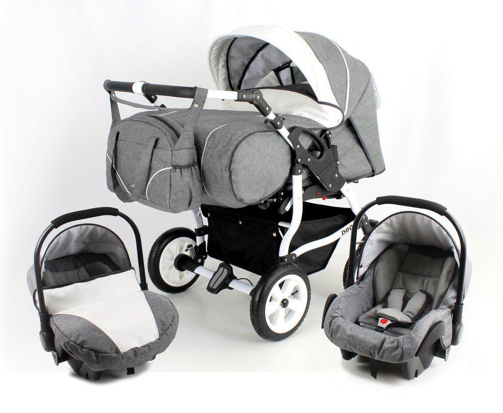 Duo stars twin pram pushchair 2 car seats certified to bs5852