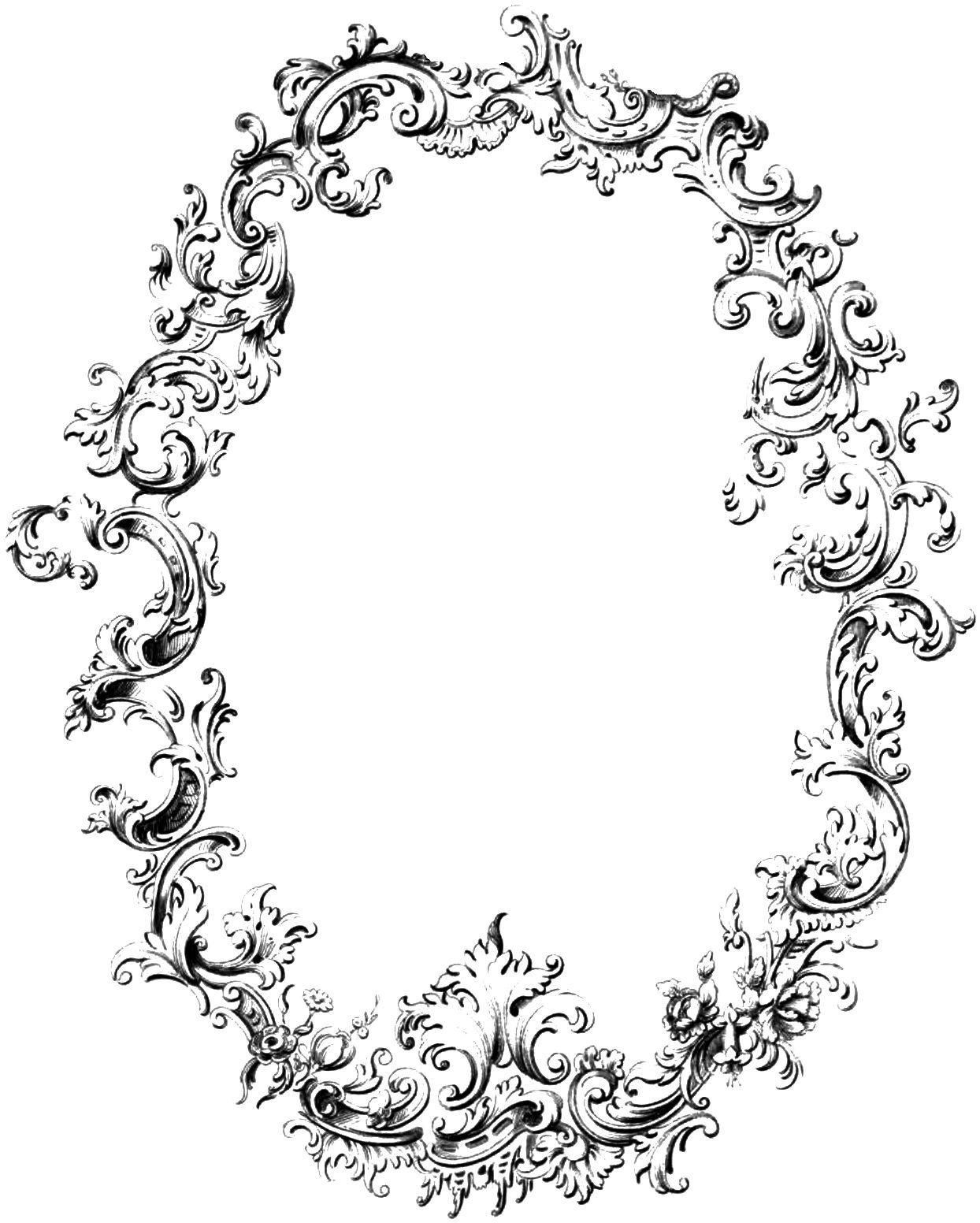 Free Fancy Frame Vintage Clip Art Image