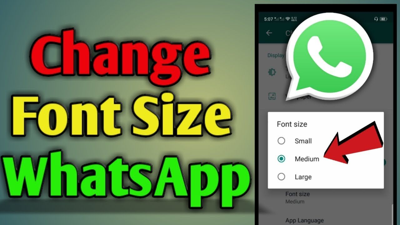 How To Change Font Size In Whatsapp Change Font Tutorial