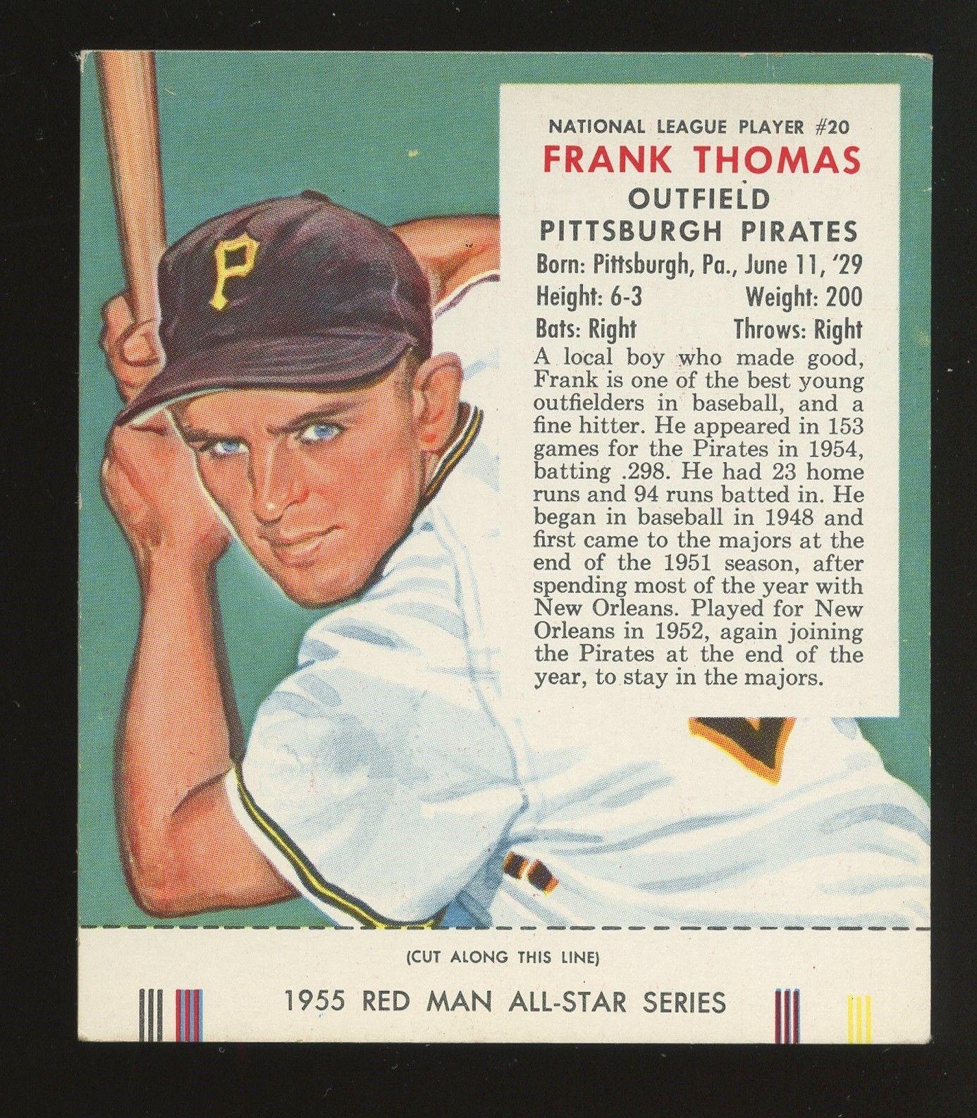 frank thomas baseball card no name