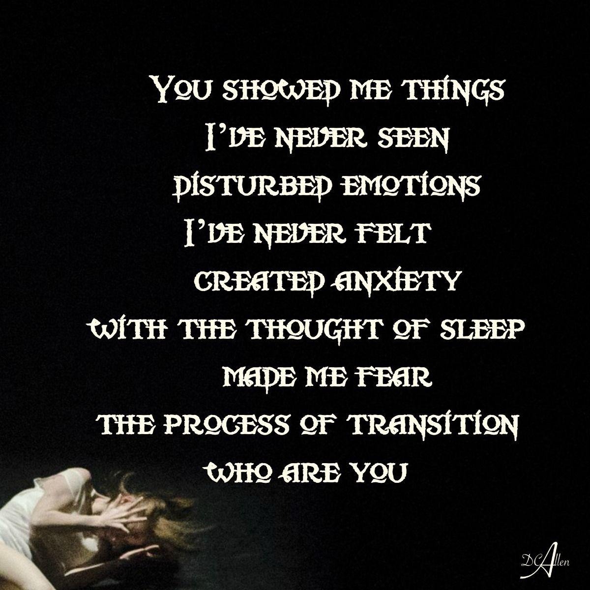 sleep paralysis you suck! #poetry i don't sleep walk, i wake up and