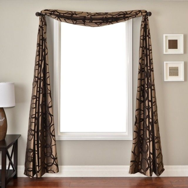 This Window Scarf Is A Great Pattern Scarves Are Good Decorations But They