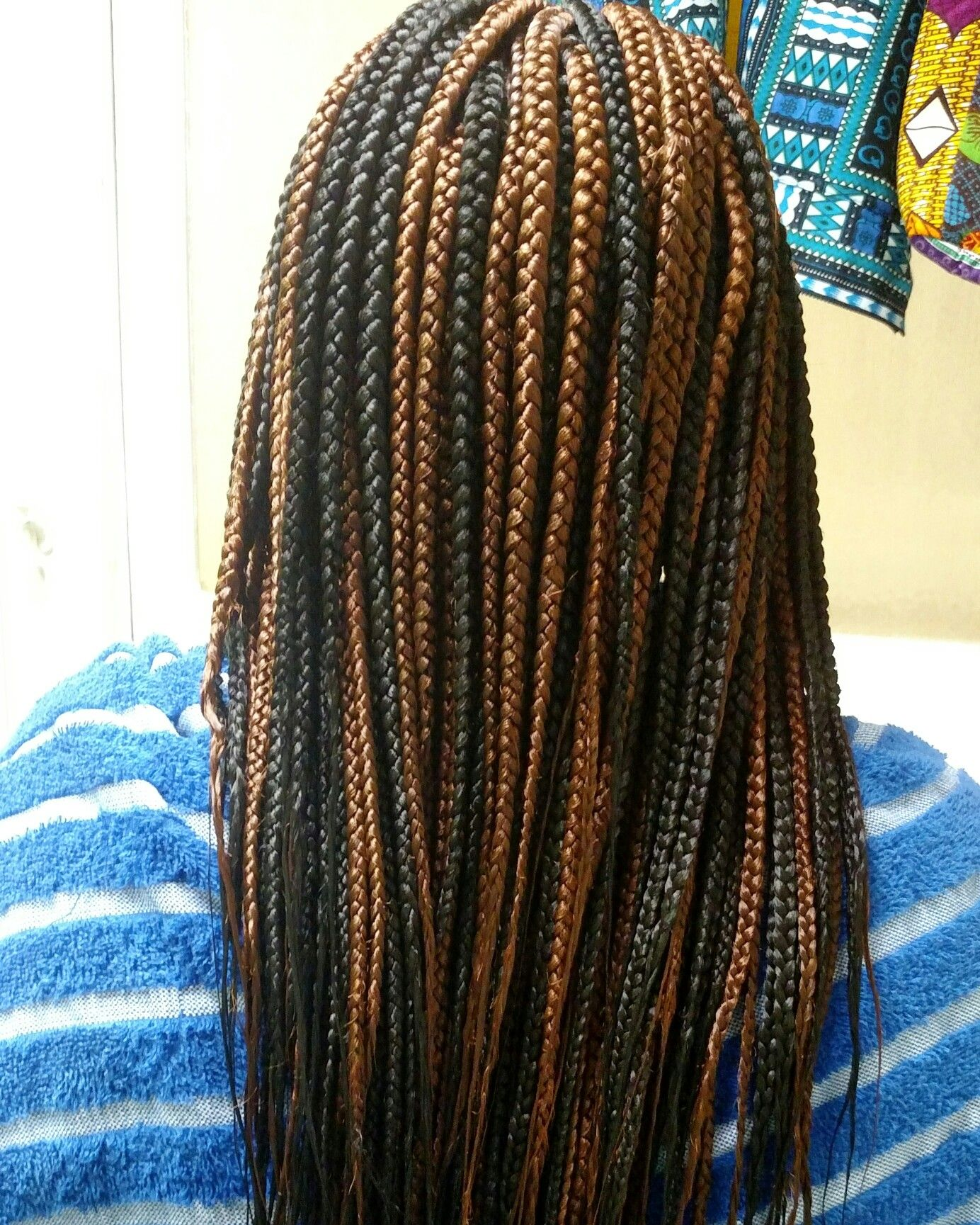 Black And Brown Medium Box Braids Black Box Braids Brown Box Braids Box Braids Hairstyles For Black Women