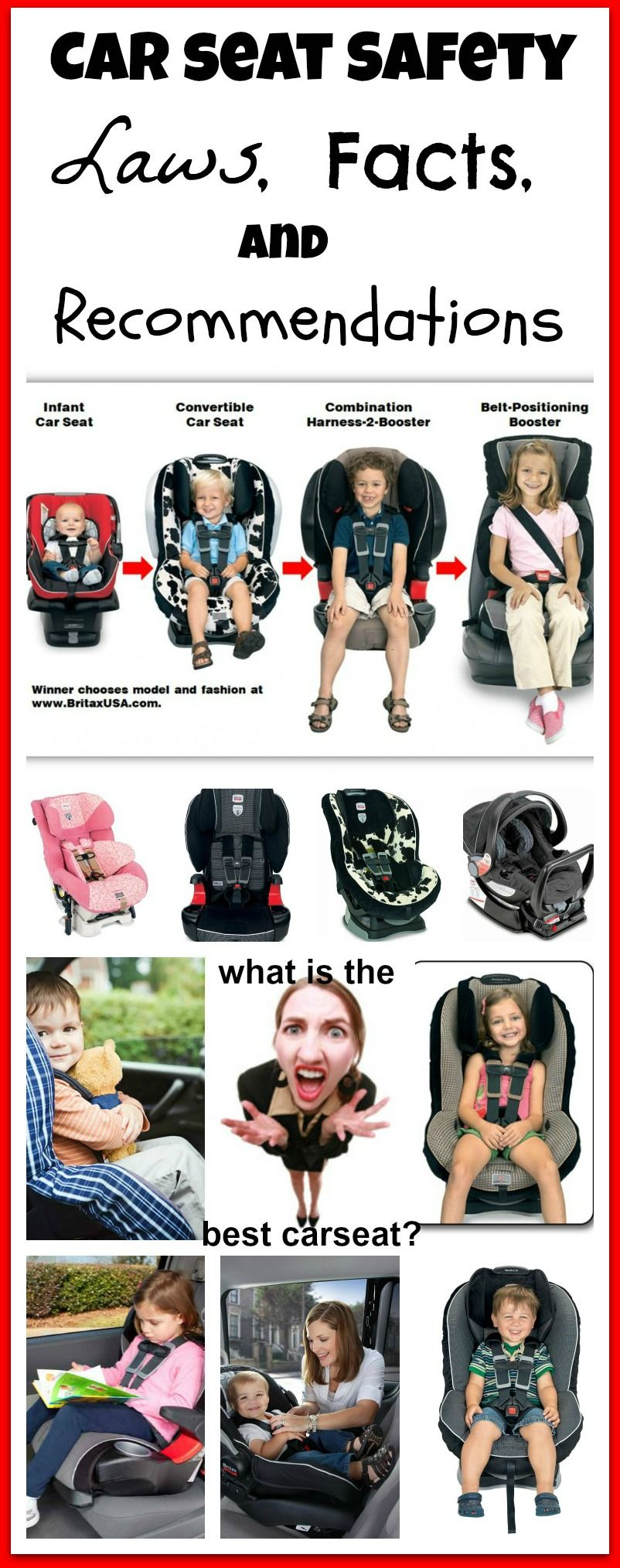 Car Seat Laws, Facts, and Recomdations! Which car seat is the ...