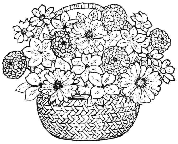 Flower Coloring Pages Images To Color Spring Flowers Printable Printable Flower Coloring Pages Spring Coloring Pages Coloring Pages