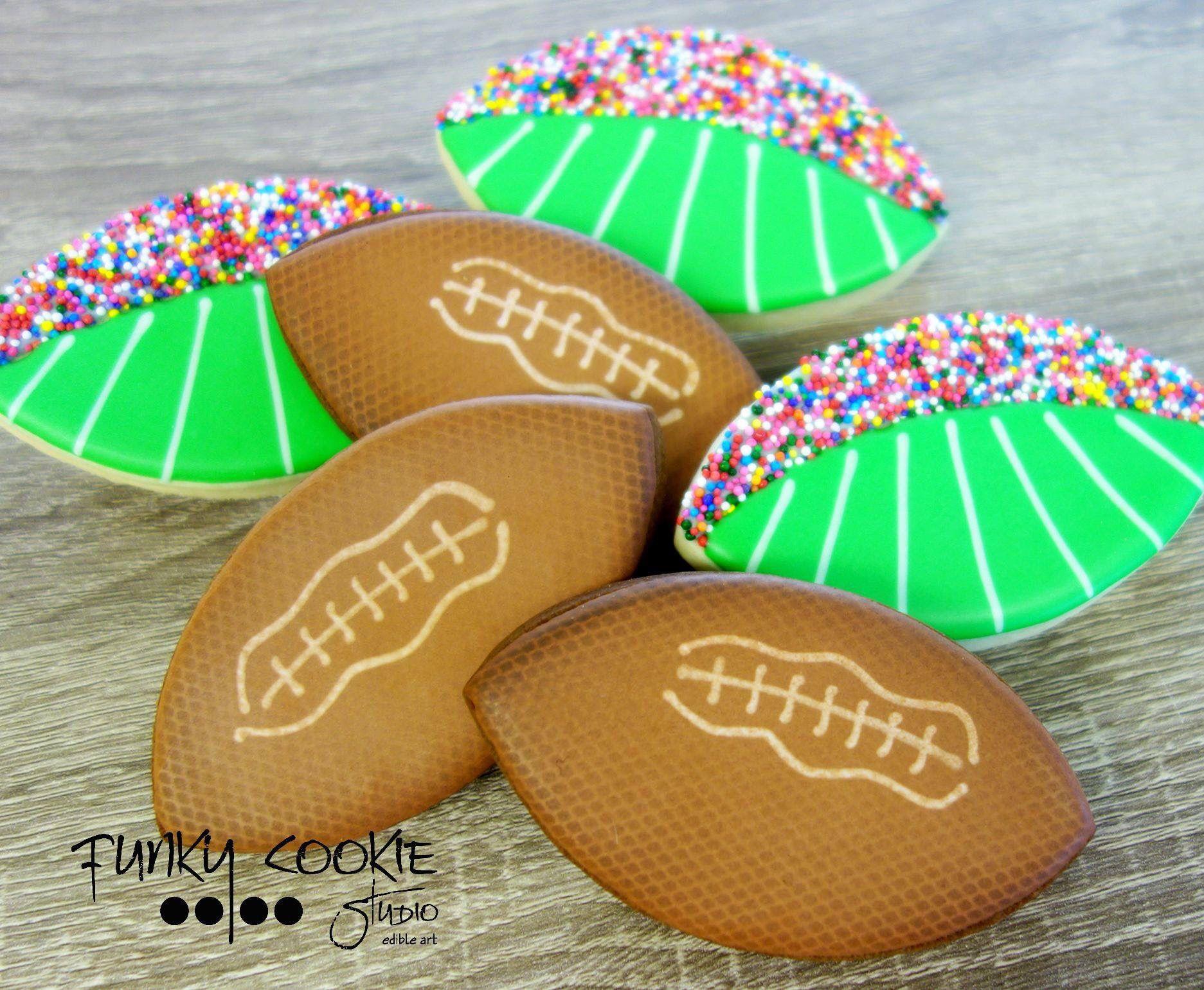 Football cookies by jill fcs football cookies cookie