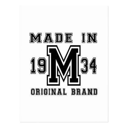 Made in 1934 original brand birthday designs postcard birthday design made in 1934 original brand birthday designs postcard cyo customize design idea do it solutioingenieria Choice Image