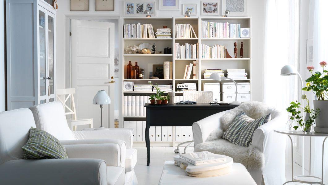 Ikea österreich Ein Weißes Wohnzimmer Mit Ektorp Jennylund Sesseln